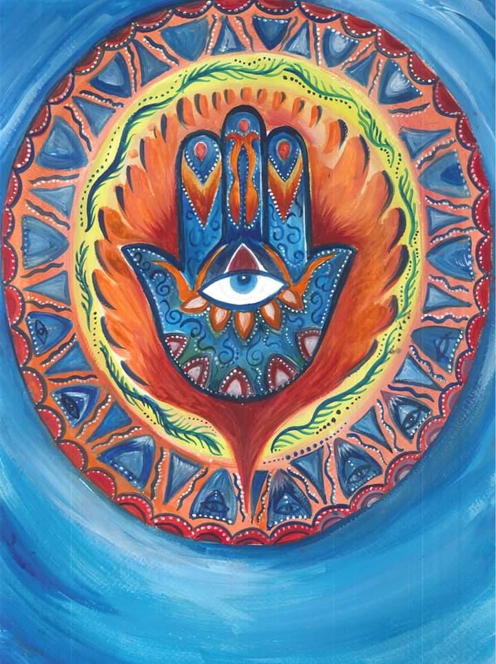 Hand of Hamsa Painting
